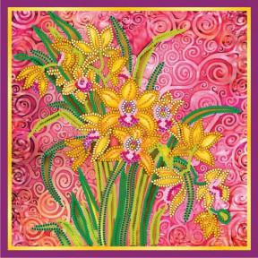 Схема для вышивания бисером Абрис Арт АС-056  Розовый шарм