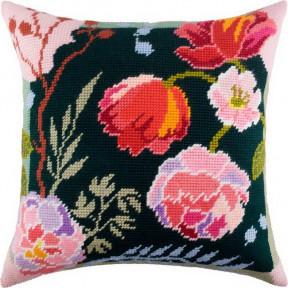 Набор для вышивки подушки Чарівниця V-170 Ночные цветы
