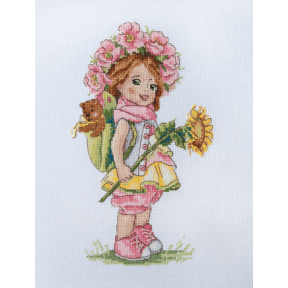 Набор для вышивания крестом Мережка Летняя девочка К-110