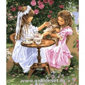 Набор для вышивания гобелен Goblenset G1060 Время пить чай фото