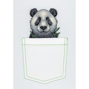 Набор для вышивки крестом МП Студия В-241 Веселая панда