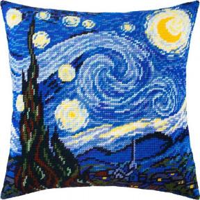 Набор для вышивки подушки Чарівниця V-185 «Звёздная ночь», В. ван Гог