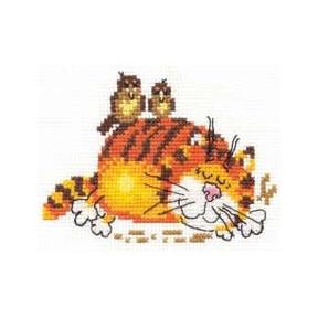 Набор для вышивки крестом Алиса   0-01 Ленивый кот