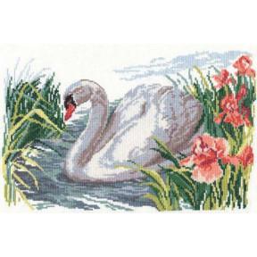 Набор для вышивки крестом Алиса 1-02 Белый лебедь