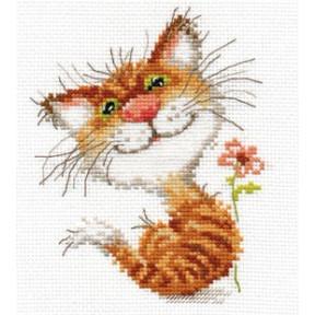 Набор для вышивки крестом Алиса 0-87 Кисочка