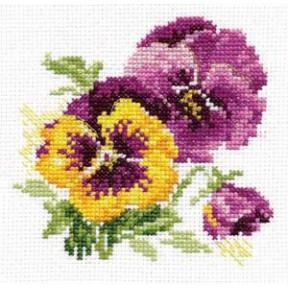 Набор для вышивки крестом Алиса 0-81 Анютины глазки