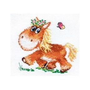 Набор для вышивки крестом Алиса 0-74 Лошадка