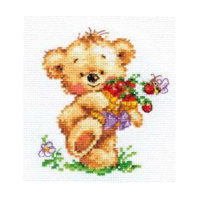 Набор для вышивки крестом Алиса 0-71 Мишутка-сластена