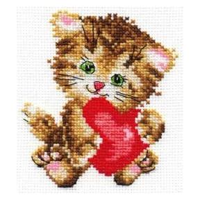 Набор для вышивки крестом Алиса 0-61 Любимая киска