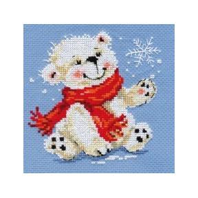 Набор для вышивки крестом Алиса 0-53 Белый медвежонок