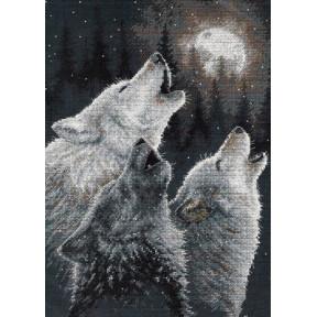 Набор для вышивания  Dimensions 35203 In Harmony Wolves