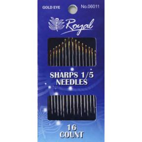 Набор длинных игл для шитья Royal 1/5 (16 шт) 06011 фото