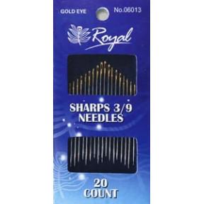 Набор длинных игл для шитья Royal 3/9 (20 шт) 06013 фото