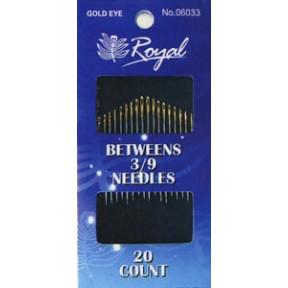 Набор полудлинных игл для шитья Royal 3/9 (20 шт) 06033 фото