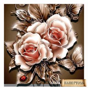 Картина из бумаги Папертоль РТ150039 Карамельные розы