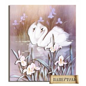 Картина из бумаги Папертоль РТ150040 Лебеди