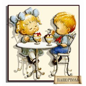 Картина из бумаги Папертоль РТ150049 Кафе-мороженое