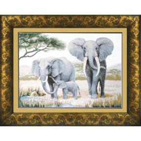 Набор для вышивки крестом Чарівна Мить М-24 Слоны у воды