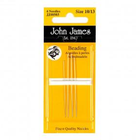 Набор бисерных игл Beading №12 (4шт) John James JJ10512