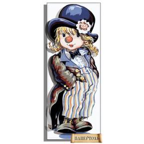 """Картина из бумаги Папертоль PT150125 """"Малышка клоун"""" фото"""