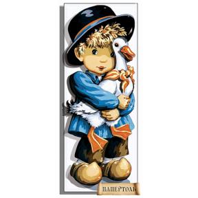 """Картина из бумаги Папертоль PT150124 """"Мальчик с гусем"""" фото"""