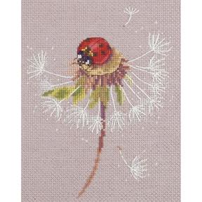 """Набор для вышивки крестом Panna ПС-7034 """"Мгновения лета. Божья коровка"""""""