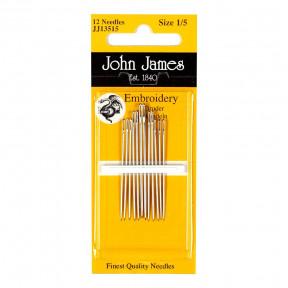 Набор игл для вышивки гладью №1(12шт) John James JJ13501 фото