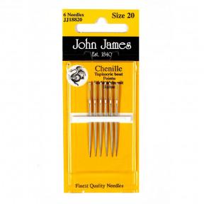 Набор игл для вышивки лентами №26 (6 шт) John James JJ18826 фото