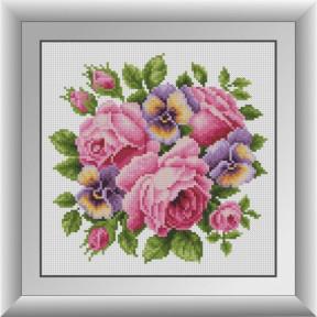 Набор для рисования камнями Dream Art. 30680 Розы с анютиными