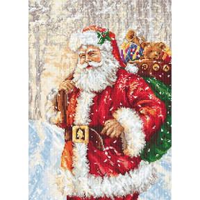 Набор для вышивки крестом Luca-S B575 Дед Мороз