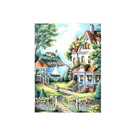 Набор для вышивания крестом Dimensions 35128 Cove Haven Inn фото