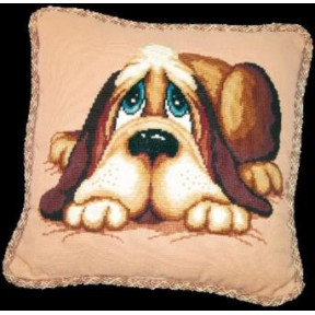 Набор для вышивки Чарівна Мить 277ч Подушка с собакой