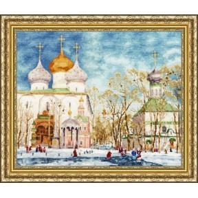 Набор для вышивки крестом Золотое Руно МК-040 День Благовещения