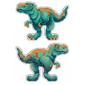 Набор для вышивки крестом МП Студия Р-271 Динозавры. Тираннозавр
