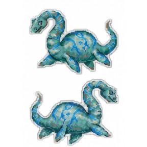 Набор для вышивки крестом МП Студия Р-301 Динозавры. Плезиозавр