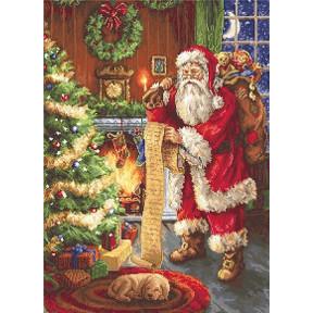 Набор для вышивки крестом Luca-S B578 Дед Мороз