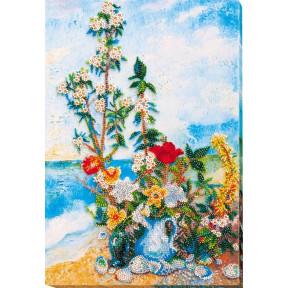 Набор для вышивки бисером на холсте Абрис Арт АВ-635 «Цветы на