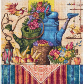 """Набор для вышивки крестом Panna Н-1995 """"Натюрморт с лейками"""""""