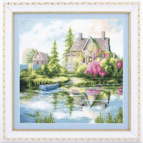 Набор для вышивания крестиком Чарівна Мить М-321 Дачный пейзаж