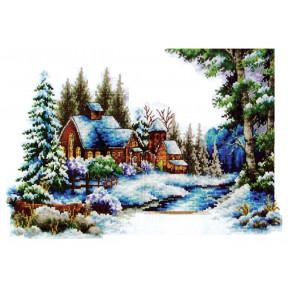 Набор для вышивания крестом Classic Design Зима 8302 фото