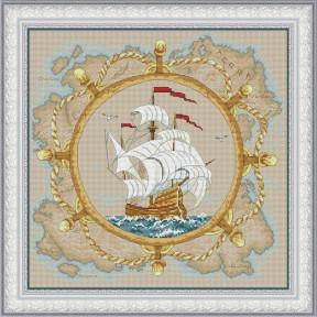 Набор для вышивания крестиком OLanTa VN-097 Морская история фото