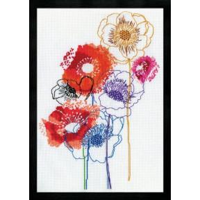 Набор для вышивания Design Works 3241 Modern Floral фото