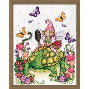Набор для вышивания Design Works 3238 Turtle & Fairy фото