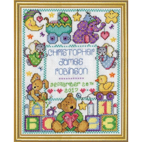 Набор для вышивания Design Works 3234 Baby Sampler фото