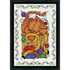 Набор для вышивания Design Works 3217 Sewing Cat фото
