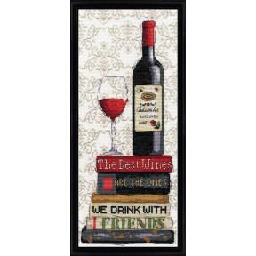 Набор для вышивания Design Works 2982 Red Wine фото