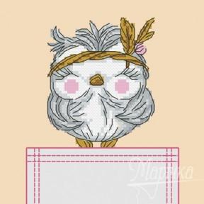 Набор для вышивки крестиком на одежде Марічка НКВ-006 Совушка