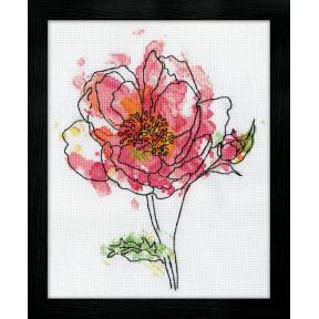 Набор для вышивания Design Works 2970 Pink Floral фото