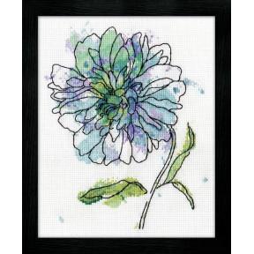 Набор для вышивания Design Works 2971 Blue Floral фото