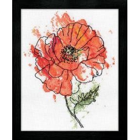 Набор для вышивания Design Works 2973 Peach Flora фото